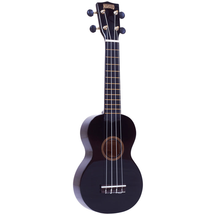 Mahalo Rainbow Soprano Ukulele Black MR1-BK
