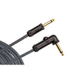D'Addario Circuit Breaker Instrument Cable Right-Angle 10 feet