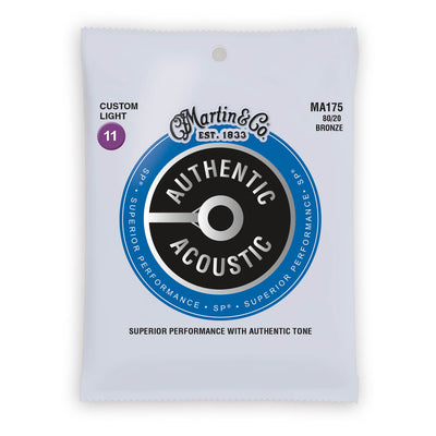 Martin Authentic Acoustic Strings Bronze 80/20 Custom Light 11-52 MA175