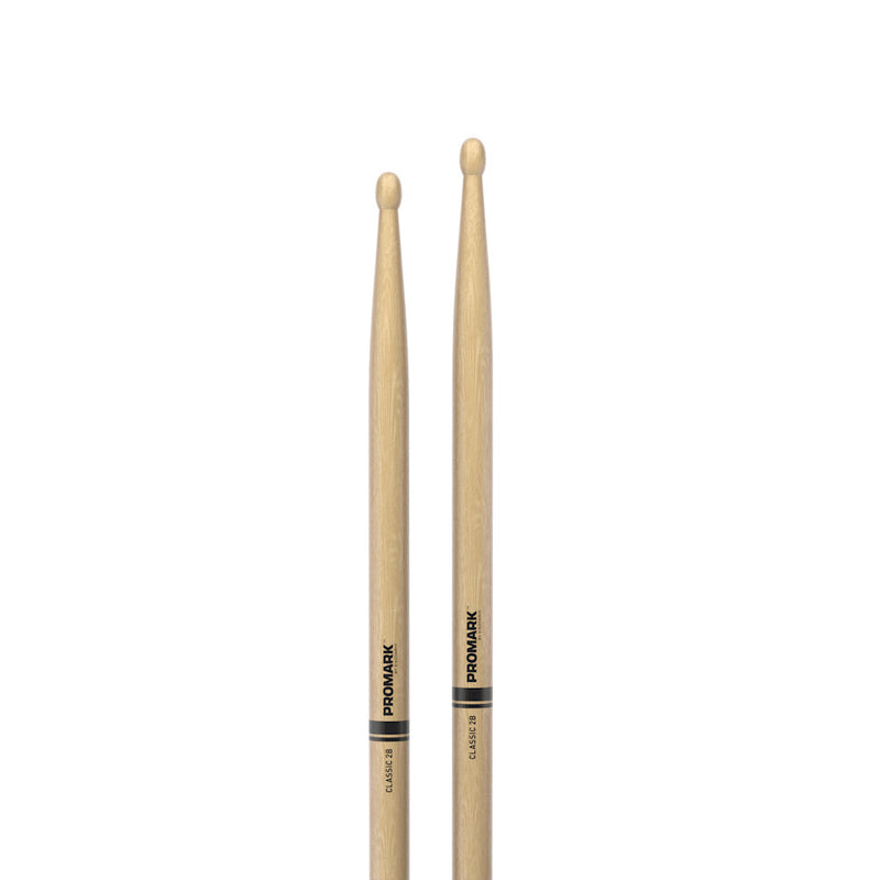 Promark Classic 2B Hickory Wood Tip Drumsticks TX2BW