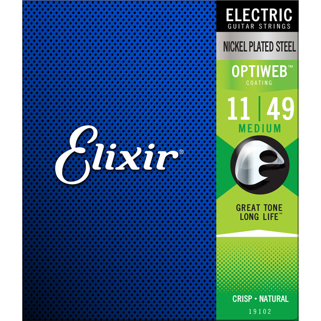 Elixir Electric Nickel Plated Steel Optiweb Medium .011-.049