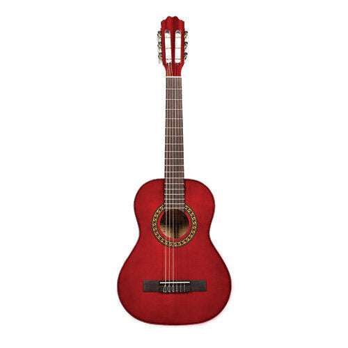 Beaver Creek 401 Series Classical Guitar 1/2 Size Trans Red w/Bag BCTC401TR