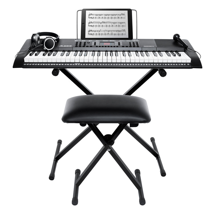 Alesis Harmony 61 MKII Keyboard Bundle W/ Bench, Stand, Headphones and Microphone