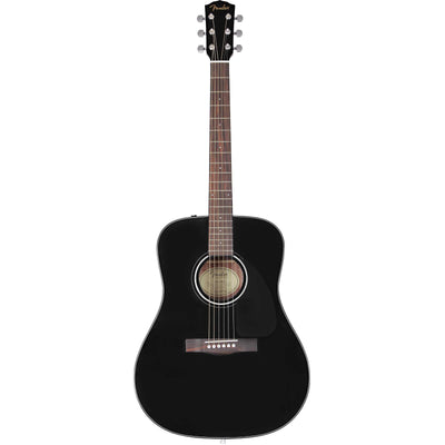 Fender CD-60 Dreadnought V3 Black W/ Case
