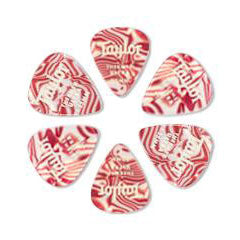 Taylor Thermex Picks 1.25 mm Ruby Swirl 6 Pack