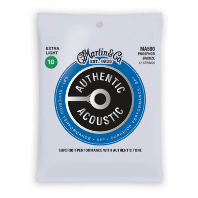 Martin Authentic Acoustic Strings Phosphor Bronze 12 String Extra Light 10-47 MA500