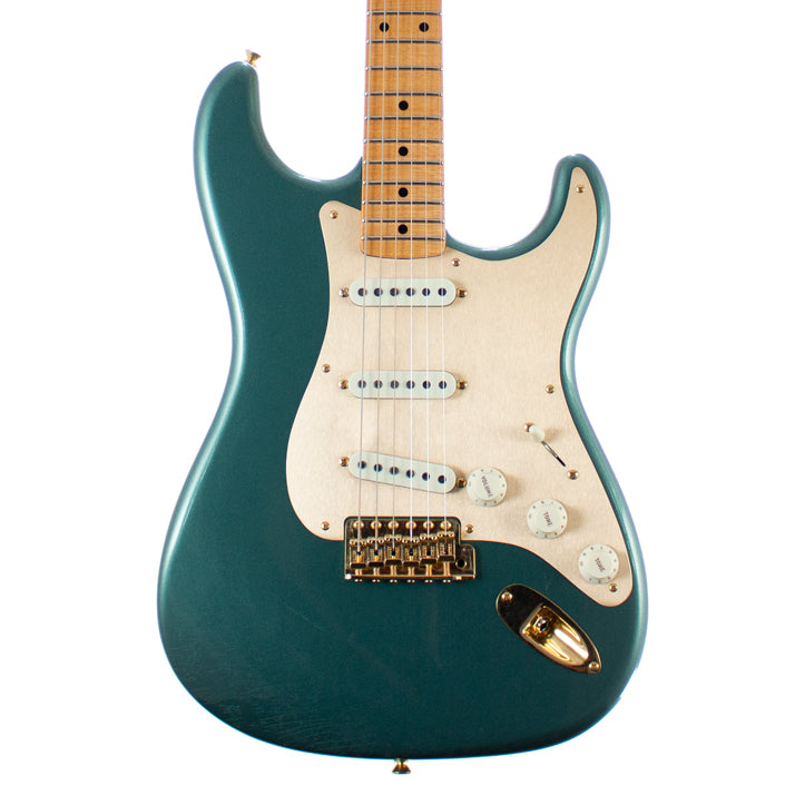 Fender Custom Shop Ltd 1957 Stratocaster Gold Hardware Deluxe Closet Classic Sherwood Green Metallic