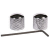 Profile P195 Knob Set Chrome