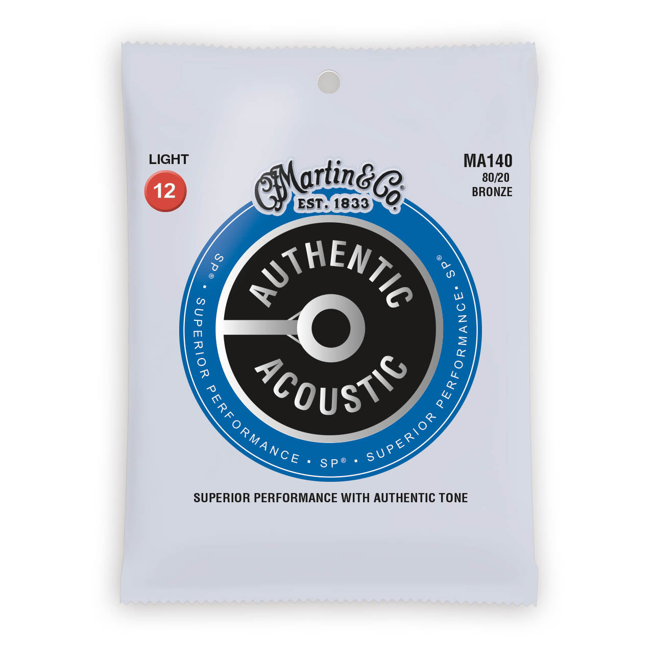 Martin Authentic Acoustic Strings Bronze 80/20 Light 12-54 MA140