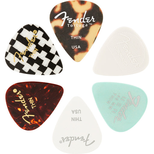 Fender 351 Material Medley Pick 6 Pack Thin