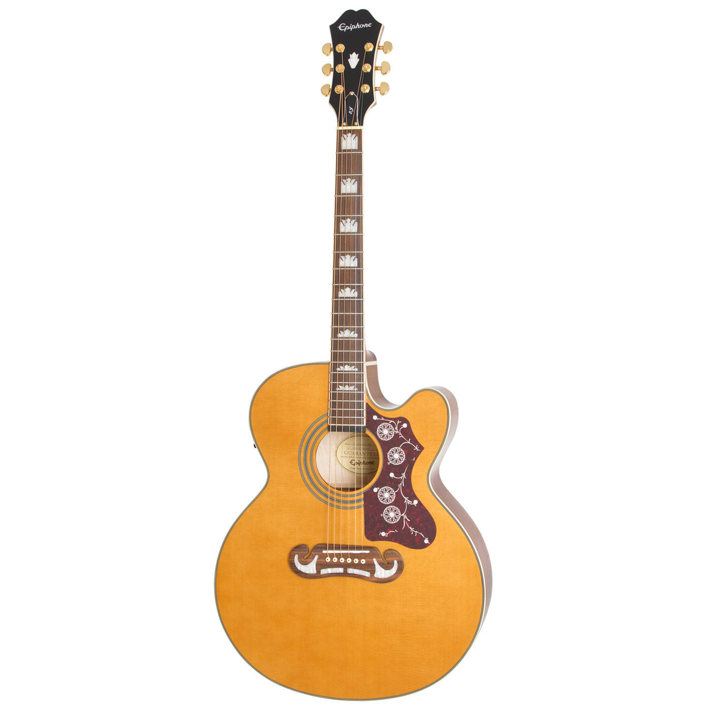 Epiphone EJ-200SCE Super Jumbo Acoustic Electric Vintage Natural