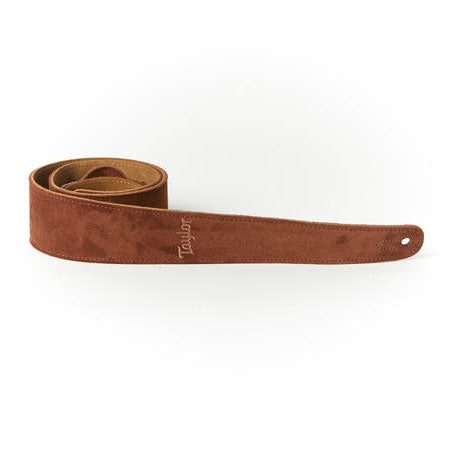 Taylor Guitar Strap Embroidered Suede Chocolate