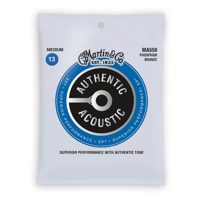 Martin Authentic Acoustic Strings Phosphor Bronze Medium 13-56 MA550