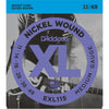 D'Addario EXL115 Nickel Wound Medium/Blues-Jazz Rock 11-49