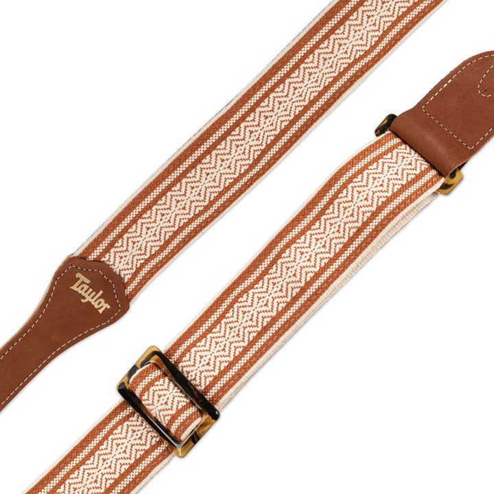 Taylor Guitar Strap Academy Series Jacquard White/Brown