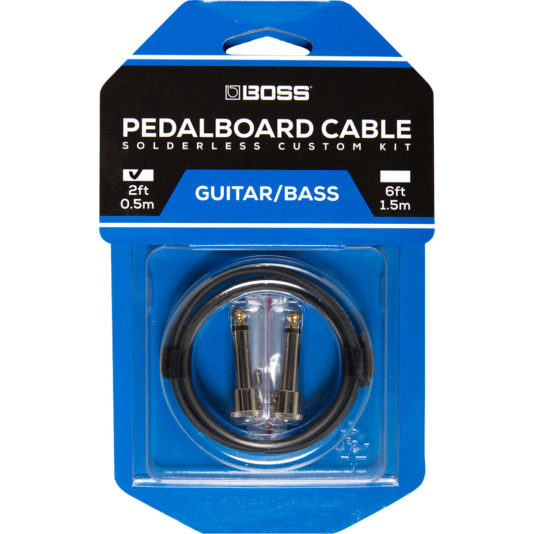 Boss Pedalboard Cable Kit, 2 Connectors, 2ft/0.5 m Cable BCK-2