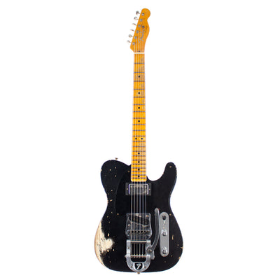 Fender Custom Shop Ltd '50s Vibra Telecaster Heavy Relic Aged Black