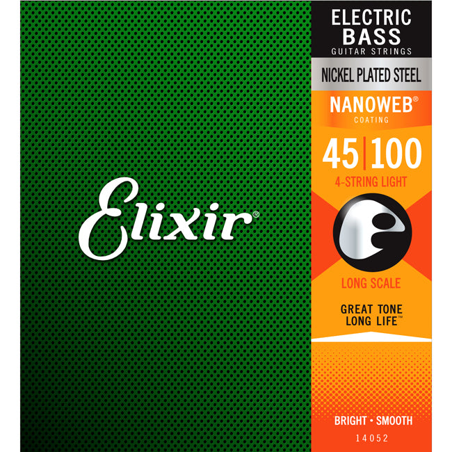Elixir Electric Bass Nickel Plated Steel Nanoweb Light Long Scale .045-.100