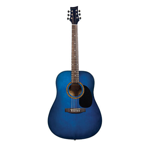 Beaver Creek 101 Series Acoustic Guitar Trans Blue w/Bag BCTD101TB