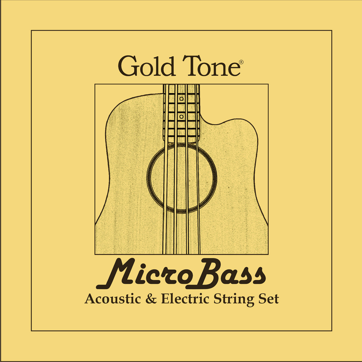 Gold Tone MBS MicroBass Rubber/Polymer Strings