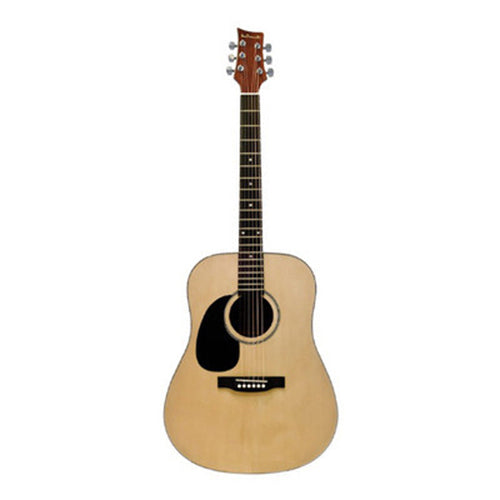 Beaver Creek 101 Series Acoustic Guitar Natural Left Handed w/Bag BCTD101L