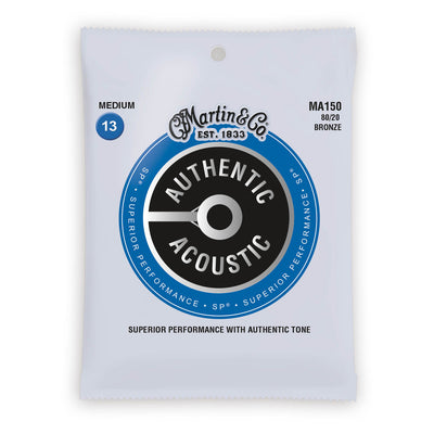 Martin Authentic Acoustic Strings Bronze 80/20 Medium 13-56 MA150