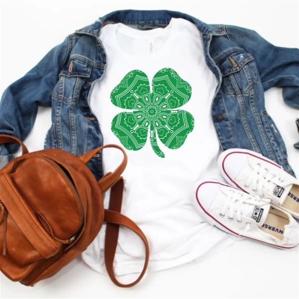 Women St Patricks Day Shirt  Shamrock Lucky Charm