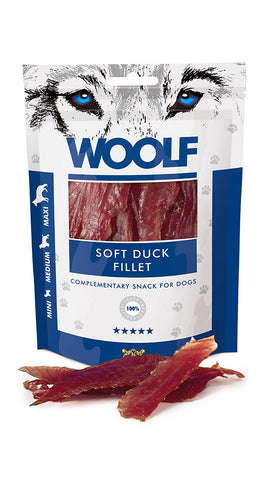 WOOLF SOFT DUCK JERKY FILLET 100GR