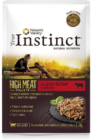 Instinct Cat Wet High Meat Adulto Húmido  (Caixa de 8 Saquetas de 70gr)