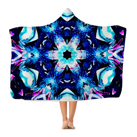 Hooded Blanket - Chakra Galaxy (Lightweight)