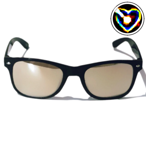 Diffraction Glasses - Lovestruck, Heart Effect (Black) - WonkiWear