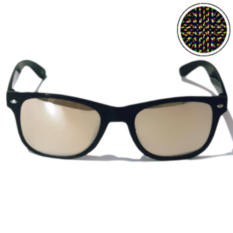 Diffraction Glasses - Supernova, Mindbending Effect (Black)-Accessories-WonkiWear