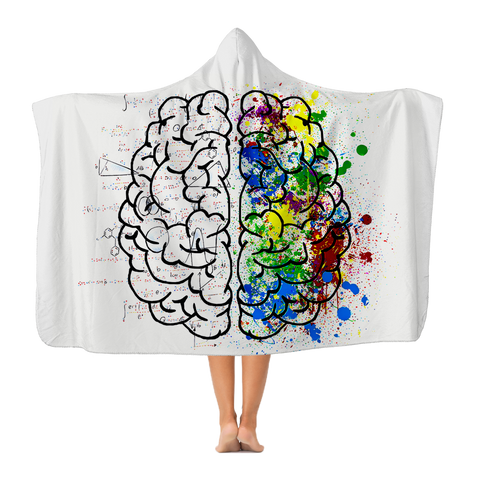 Hooded Blanket - Brain (Sherpa Lined)