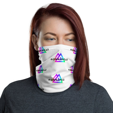 Face Mask - WonkiWear Logo White-Face Mask-WonkiWear