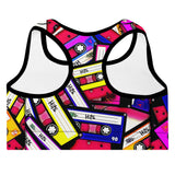Padded Sports Bra - Cassettes-Women-WonkiWear