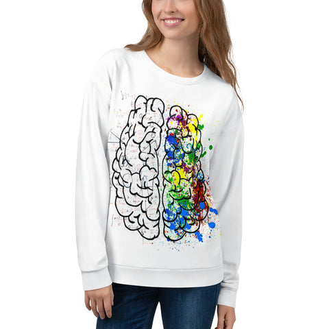 Womens Sweatshirt - Brain-Apparel-WonkiWear