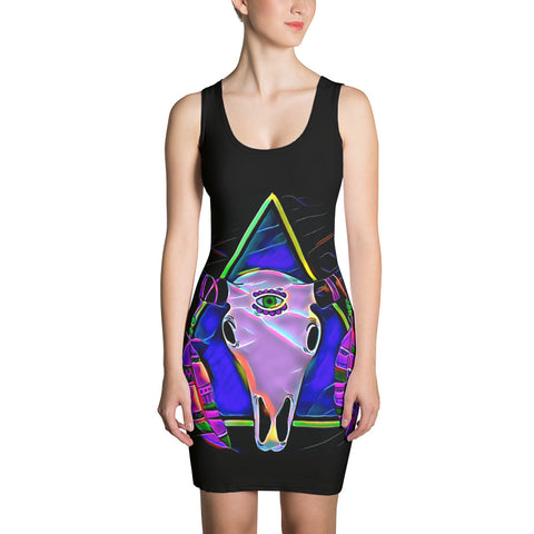 Dress - Third Eye Skull-Women-WonkiWear