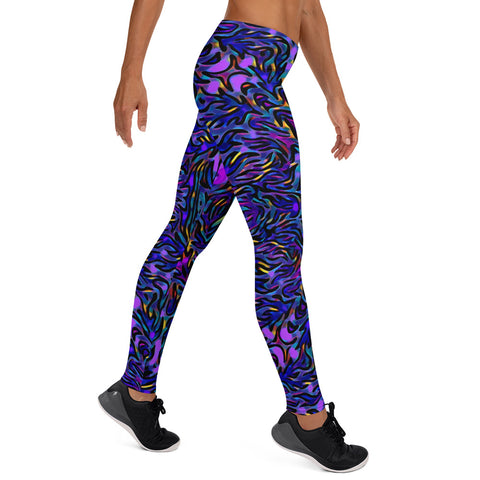 Leggings - PurBlue - WonkiWear