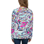 Womens Sweatshirt - Swirl-Apparel-WonkiWear