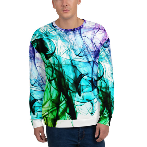 Mens Sweatshirt - Smoke - WonkiWear