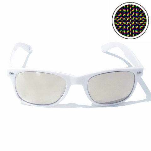 Diffraction Glasses - Supernova, Mindbending Effect (White)-Accessories-WonkiWear