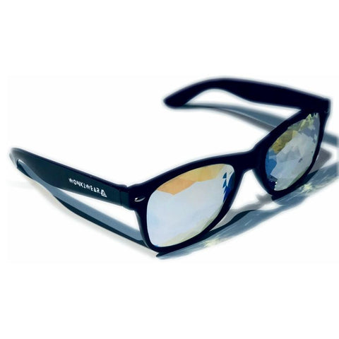 Kaleidoscope Glasses - Mirage (Black)-Accessories-WonkiWear