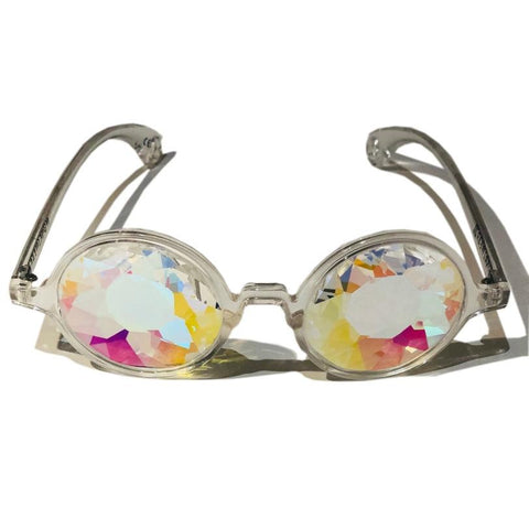 Kaleidoscope Glasses - Whirlpool (Clear)-Accessories-WonkiWear