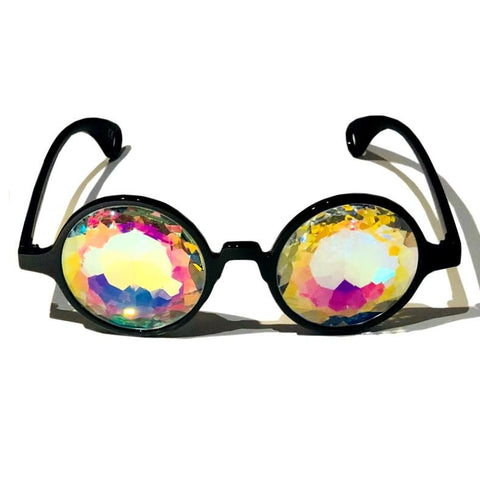 Kaleidoscope Glasses - Whirlpool (Black)-Accessories-WonkiWear