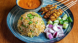 [Malacca]Satay Golden Fried Rice Family Combo | 沙爹黄金炒饭家庭套餐 [Hainanese]-BigBrand Satay | 大牌沙爹