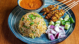 [Malacca]Satay Golden Fried Rice | 沙爹黄金炒饭 [Hainanese]-BigBrand Satay | 大牌沙爹