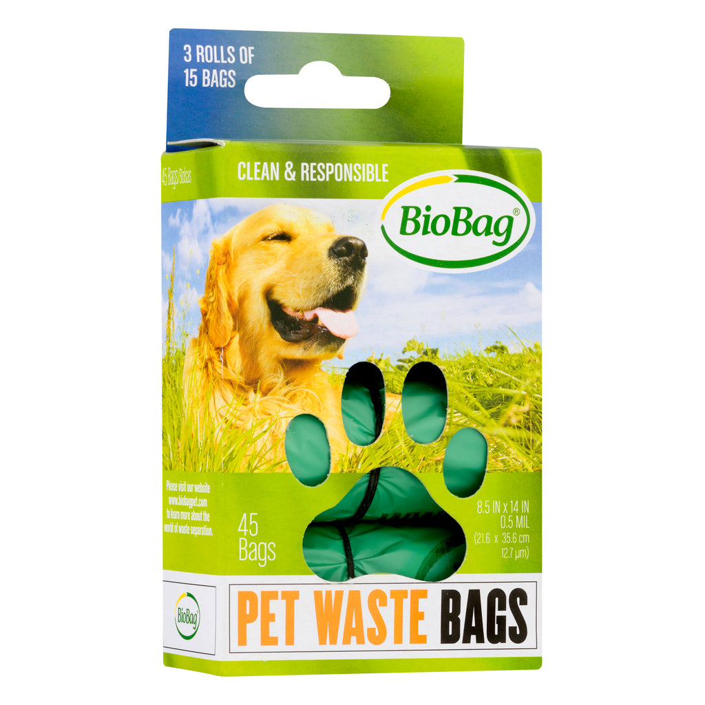 Compostable doggie waste bags 45count