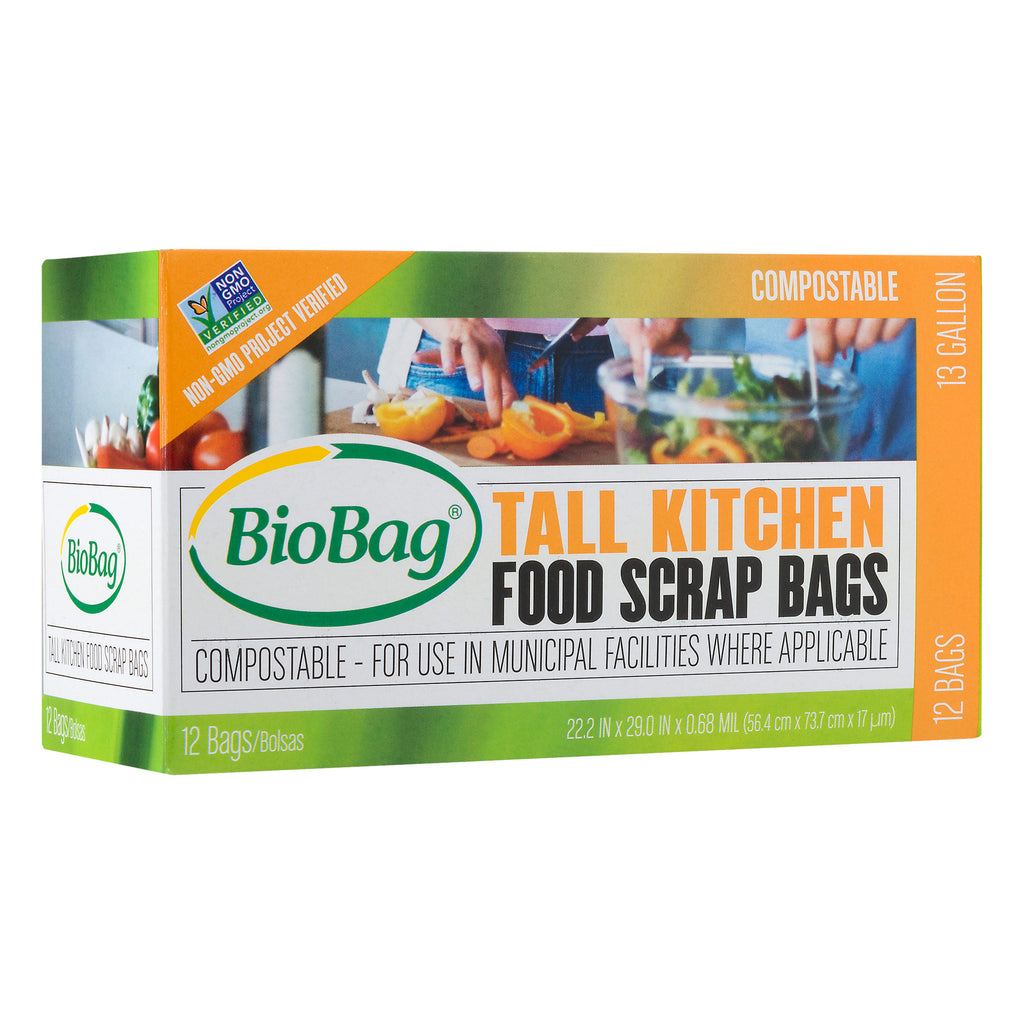 Compostable tall kitchen bags 13 gallon 24count