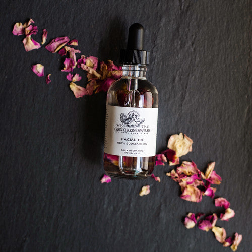 100% vegan SQUALANE  Oil  WITH ROSE PETALS 1.70 oz