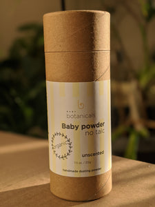 Zero waste TALC FREE  all natural baby powder 7.5oz